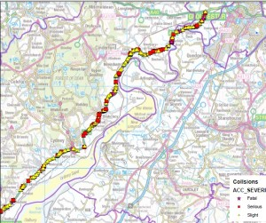 A48 ACCIDENT MAP